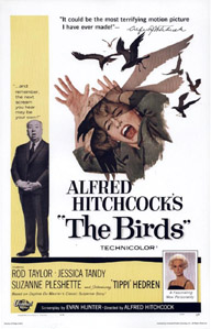 The Birds movie poster, 1963